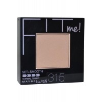 Pressed Powder Set + Smooth 9g Soft Honey 315 Normal To Dry Fit Me