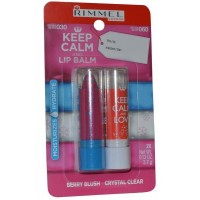 Lip Balm Duo Pack 3.7g Berry Blush 3.7g Crystal Clear Keep Calm and Lip Balm