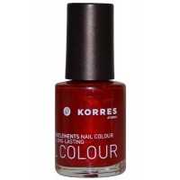 Nail Color High Shine Long Lasting 10ml Metallic Red (56) [Free From 7]