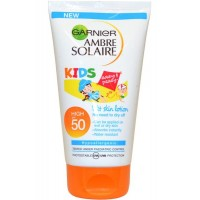 Lotion Can be applied to Wet or Dry Skin 150ml SPF50 Water Resistant Hypoallergen Ambre Solaire Kids