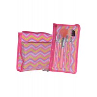 5 piece Cosmetics Brush and Bag Set