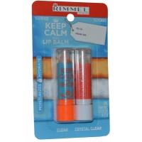Lip Balm Duo Pack 3.7g Clear and 3.7g Crystal Clear Keep Calm and Lip Balm